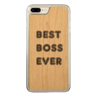 Best Boss Ever Carved iPhone 8 Plus/7 Plus Case