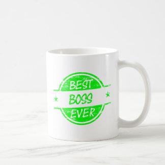 Best Boss Ever Green Mugs