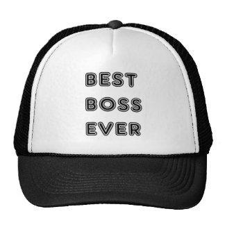 Best Boss Ever Trucker Hats