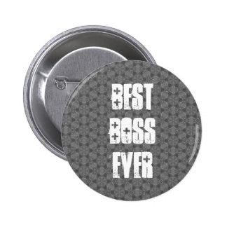 Best Boss Ever Modern Silver Star Pattern Buttons