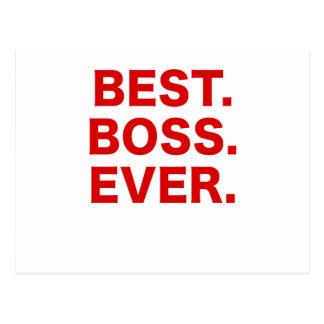 Best Boss Ever Postcard