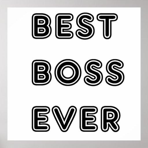 Best Boss Ever Poster