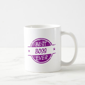 Best Boss Ever Purple Basic White Mug