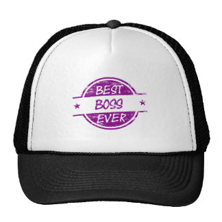 Best Boss Ever Purple Mesh Hats