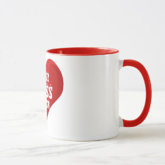 Best Boss Ever Red Heart Love Mug