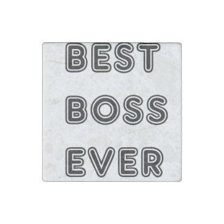 Best Boss Ever Stone Magnet