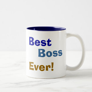 Best , Boss, Ever! Two-Tone Coffee Mug
