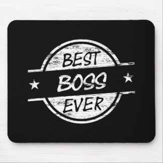 Best Boss Ever White Mouse Pad