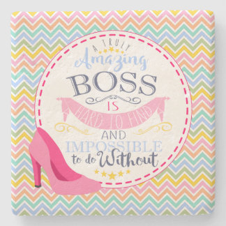 Best boss office drink coaster, Christmas gift Stone Coaster