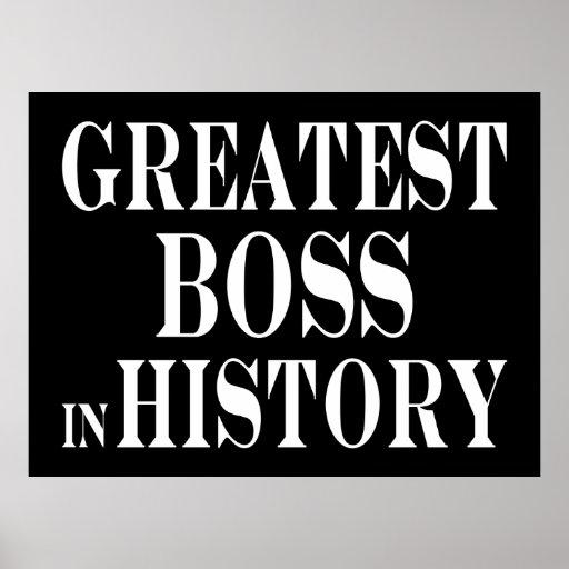 Best Bosses : Greatest Boss in History Poster