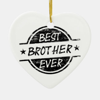 Best Brother Ever Black Ceramic Heart Decoration