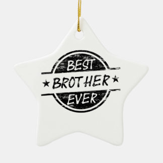 Best Brother Ever Black Ceramic Star Decoration
