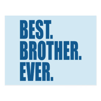 Best. Brother. Ever. (blue) Postcard