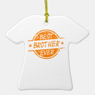 Best Brother Ever Orange Christmas Ornament