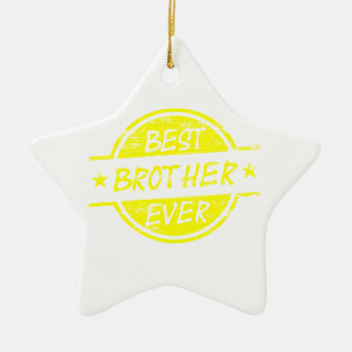 Best Brother Ever Yellow Ceramic Star Decoration