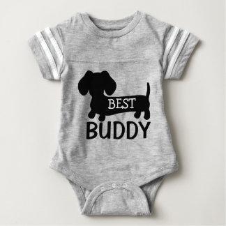 Best Buddy Dachshund One Piece Baby Outfit Baby Bodysuit