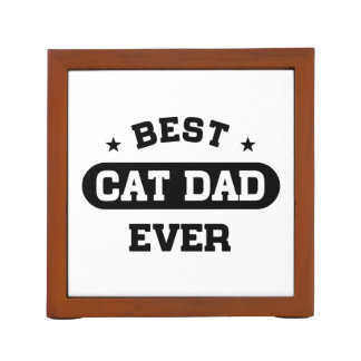 Best Cat Dad Ever Desk Organiser