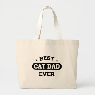 Best Cat Dad Ever Large Tote Bag