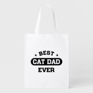 Best Cat Dad Ever Reusable Grocery Bag