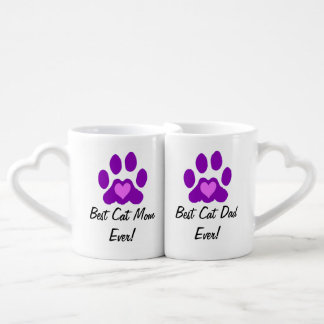 Best Cat Mom and Dad Coffee Mug Set