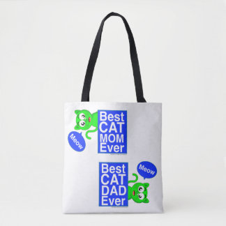 BEST CAT MOM AND DAD EVER TOTE - PLANET PEEKABOO