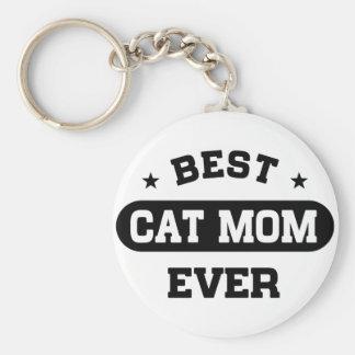 Best Cat Mom Ever Key Ring
