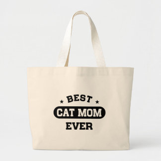 Best Cat Mom Ever Large Tote Bag