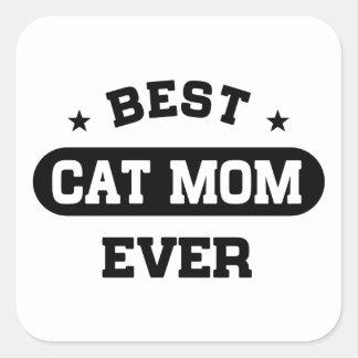 Best Cat Mom Ever Square Sticker