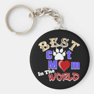 Best Cat Mom In The World Gifts for Mother's Day Keychains