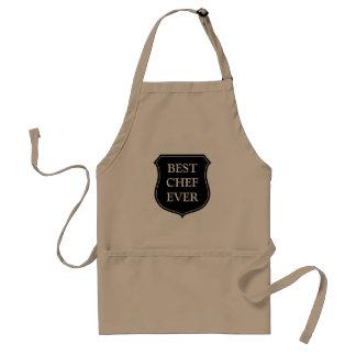 Best chef ever BBQ apron for men Beige