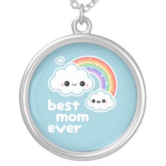 Best Cloud Mom Round Pendant Necklace