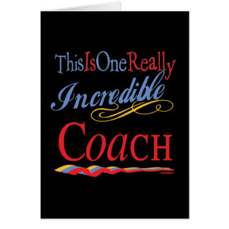 Best Coach Gifts Greeting Cards