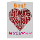 Best Coach Love Netball Design Card