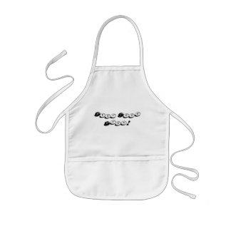 Best Cook Ever Funny Black and White Typography Kids Apron