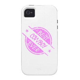 Best Cowboy Ever Pink iPhone 4 Case