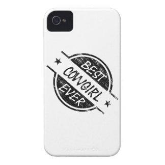 Best Cowgirl Ever Black Case-Mate iPhone 4 Case