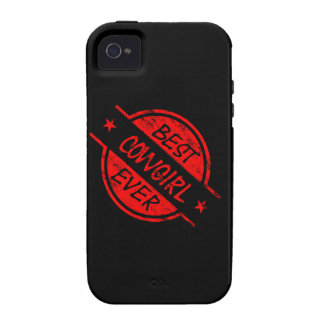 Best Cowgirl Ever Red iPhone 4 Case