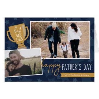 Best Dad Award Photo Greeting Card