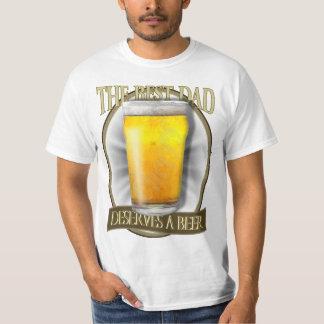 Best Dad Deserves A Beer T-shirt