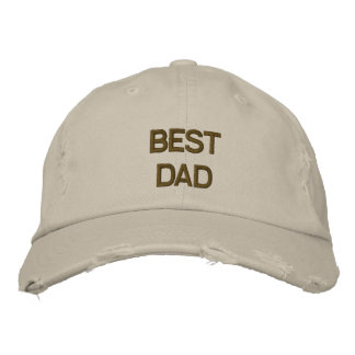 Best Dad Embroidered  Chino Twill Cap