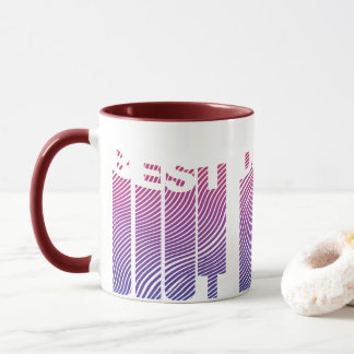 Best Dad Ever 3D Cool Gradient Pattern Mug