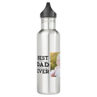 Best Dad Ever Arrows Custom Photo 710 Ml Water Bottle