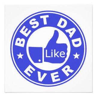 Best Dad Ever - Blue Invite