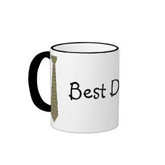 Best Dad Ever Dark Polka Dot Fake Tie Mugs