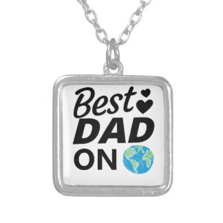 Best dad Ever father Day men Silver Plated Necklace