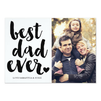 BEST DAD EVER | FATHERS DAY CARD 13 CM X 18 CM INVITATION CARD