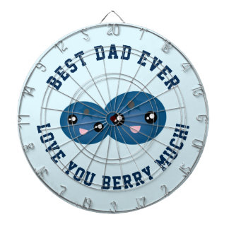 Best Dad Ever Father's Day Love You Berry Much Dartboards