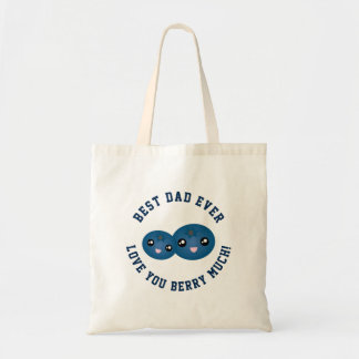 Best Dad Ever Father's Day Love You Berry Much Tote Bag