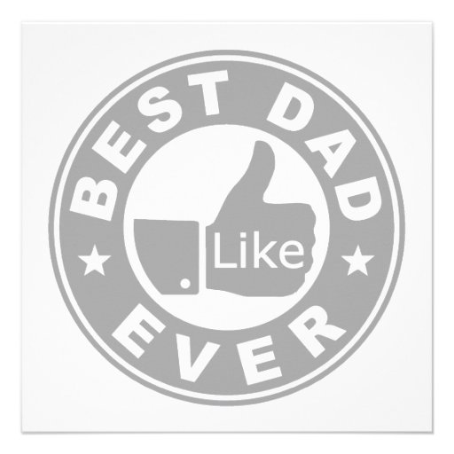 Best Dad Ever - Grey Personalized Announcements