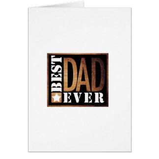 Best Dad Ever Grunge Series Card